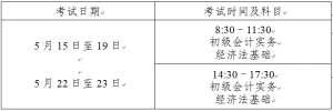 2021年上海初级会计职称考试准考证打印时间为5月10日至5月12日